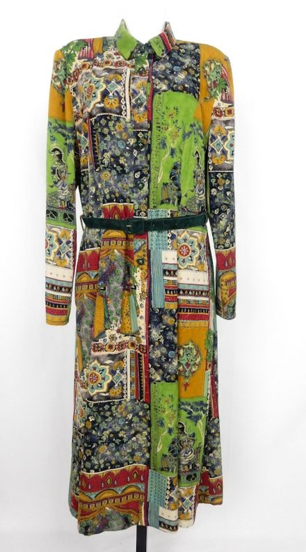 Amazing Vintage Crazy Pattern Dress