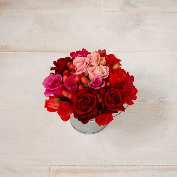 A Bucket of Roses and Berries