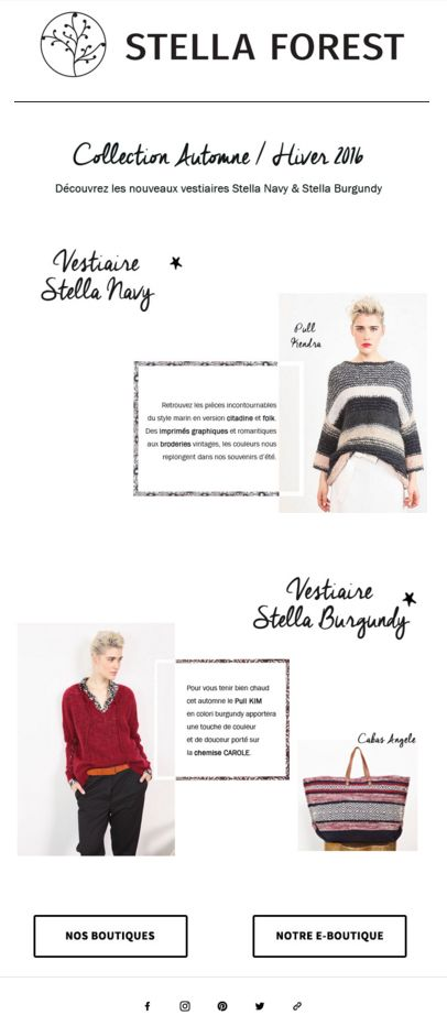 Newsletter Stella Forest Septembre #newsletter #stellaforest #stellanavy #stellaburgundy #burgundy #navy #bordeaux #marine #bleu #rouge #pull #cocooning #newcollection #fashion #fallwintercollection