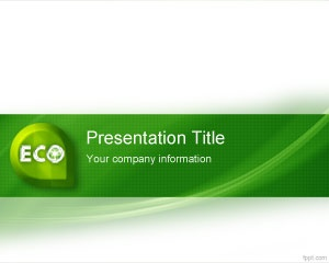Free Eco Friendly PowerPoint Template for global warming PowerPoint presentations and recycling
