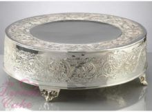 Brilliant Silver Wedding Cake Stand Silver Wedding Cake Stands On Wedding Cakes With Silver Cake Stand