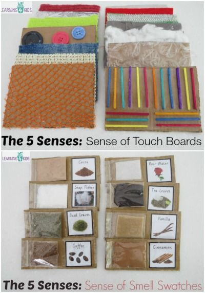 I made these Sense of Smell Swatches and Sense of Touch Boards last year for a early years class I was teaching.  They were used as part of our Five Senses Unit.  They were a hit!  The kids loved to feel and smell the different boards and swatches as it gave them hands-on tactile objects to explore and manipulate.