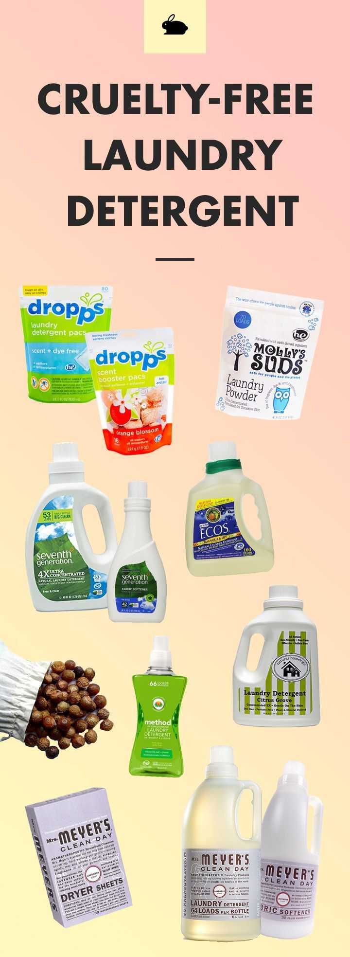 Choose household products that aren't tested on animals.