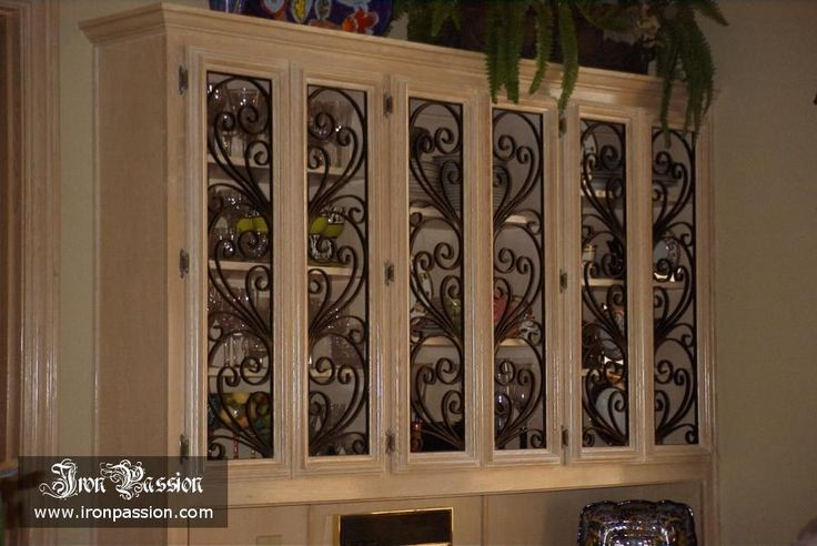 Wrought iron cabinet door inserts home improvement - Wrought iron kitchen cabinet door inserts ...