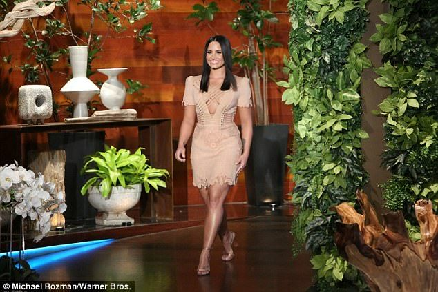 Strutting her stuff: Demi Lovato stopped by The Ellen DeGeneres Show on Tuesday to talk about all her upcoming projects