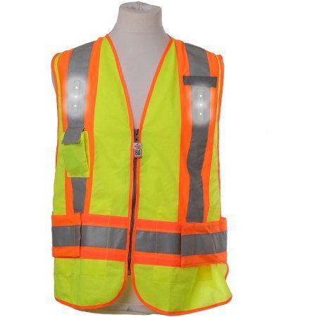 Visijax LED Workwear Adjustable Hi-Vis Safety Vest