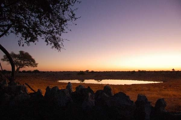 #DailyEscape: Etosha at dusk. The park is reputed for its waterholes that are optimal for #gameviewing.