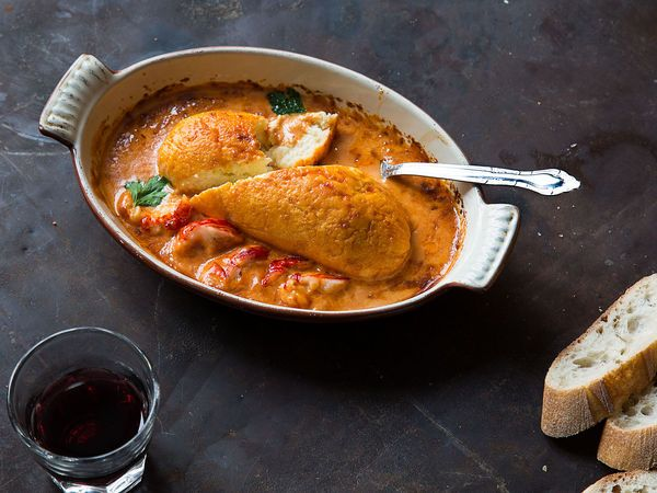 Creamy fish with a traditional crayfish sauce for a double dose of French seafood.