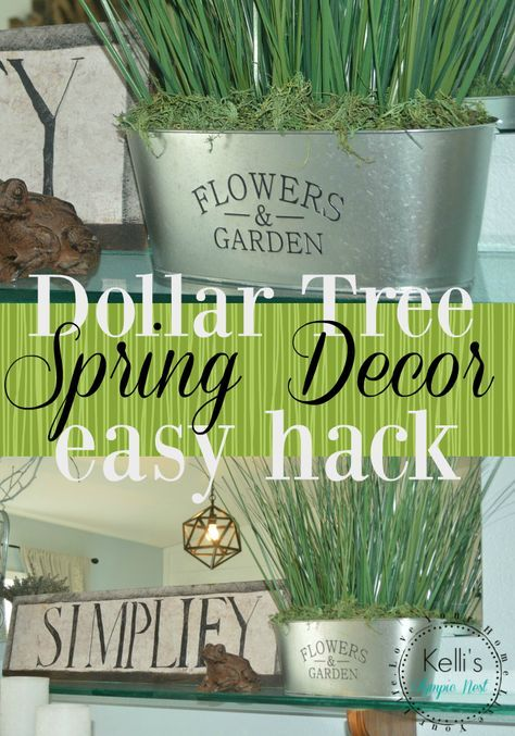 Decorate for spring with this easy dollar store hack