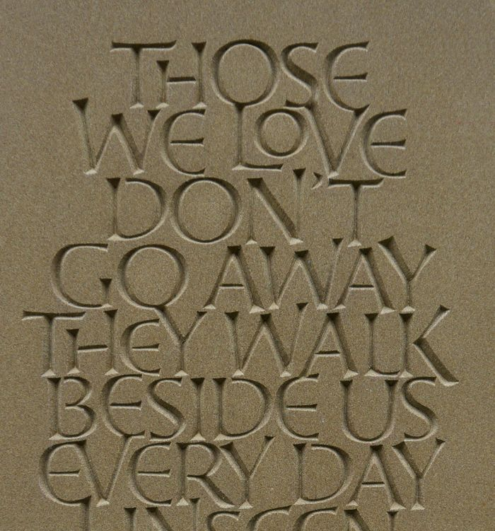 stonecarving and lettering: Norfolk memorial maker, carver and letterer Teucer Wilson