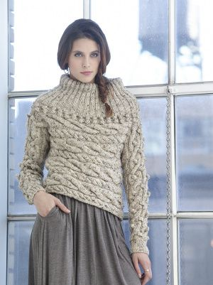 Sideways Cable Pullover free