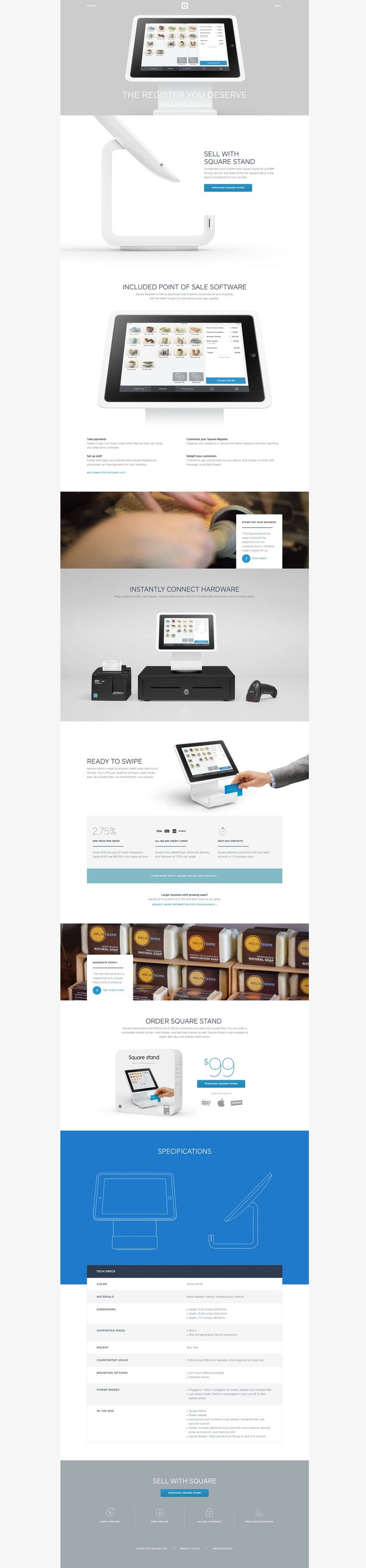 Square Stand   Turn your iPad into a complete point of sale system