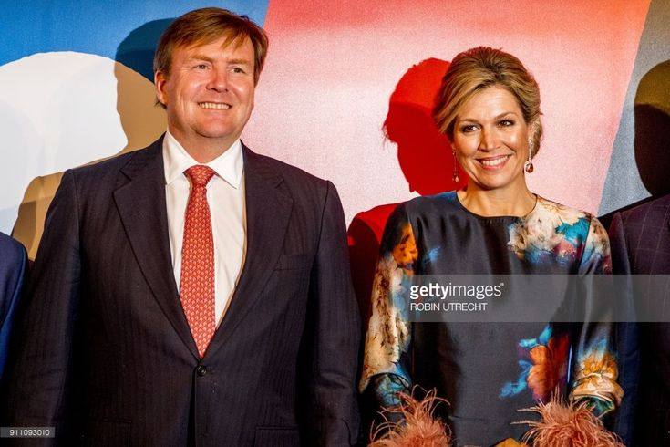 Dutch King Willem Alexander and Queen Maxima pose during the opening weekend of Leeuwarden, the European Capital of Culture, on January 27, 2018.  (Photo credit should read ROBIN UTRECHT/AFP/Getty Images)