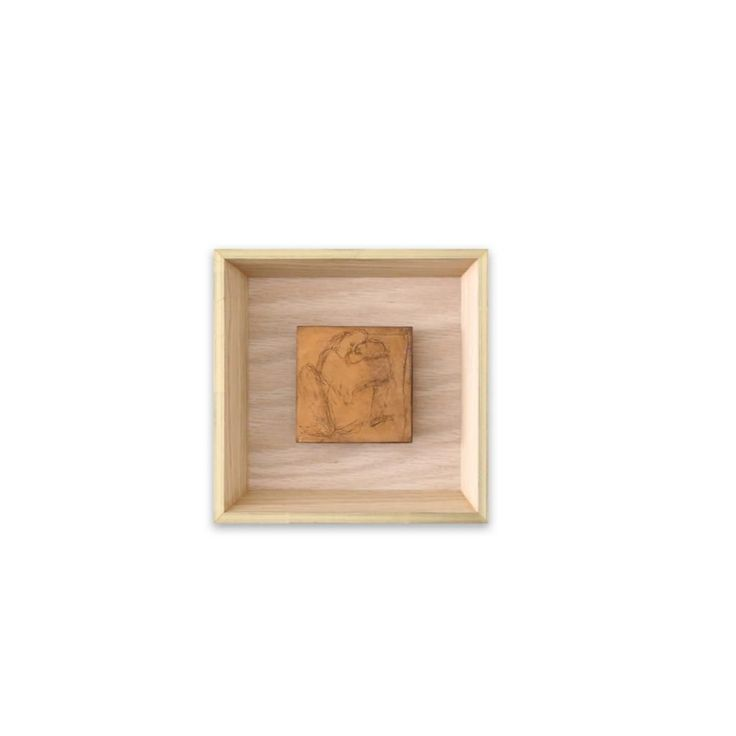 ANA ROSA DE YZACA SMALL COPPER ETCHING I  Copper Etching with French Oak Wood Frame  7.00 X 7.00 in  $900.00