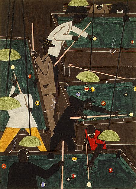 Jacob Lawrence can never get enough notice. This poster was framed in my college dorm room.