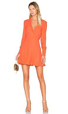 C/MEO Hold Tight Long Sleeve Dress in Morange