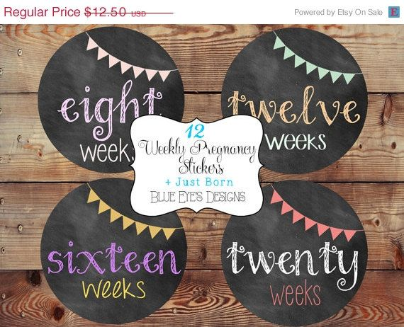 Weekly Pregnancy Stickers,Pregnancy Stickers,Chalkboard Pregnancy Stickers,Pregnancy Announcement,Pregnancy Reveal,Belly Bump Stickers,Bump on Etsy, $10.00