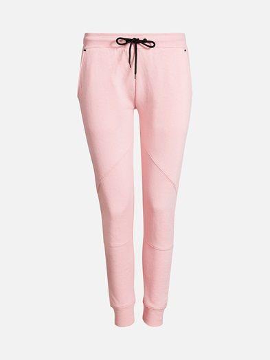 Comfortable sweats with drawstring waistband, sidepockets and ribbed hems. Pinkki