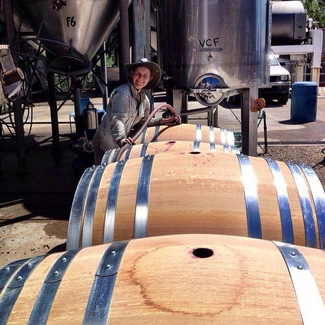 Jen Pfeiffer - 1st barrel ferment of v14! We can't wait till it's ready Jen!