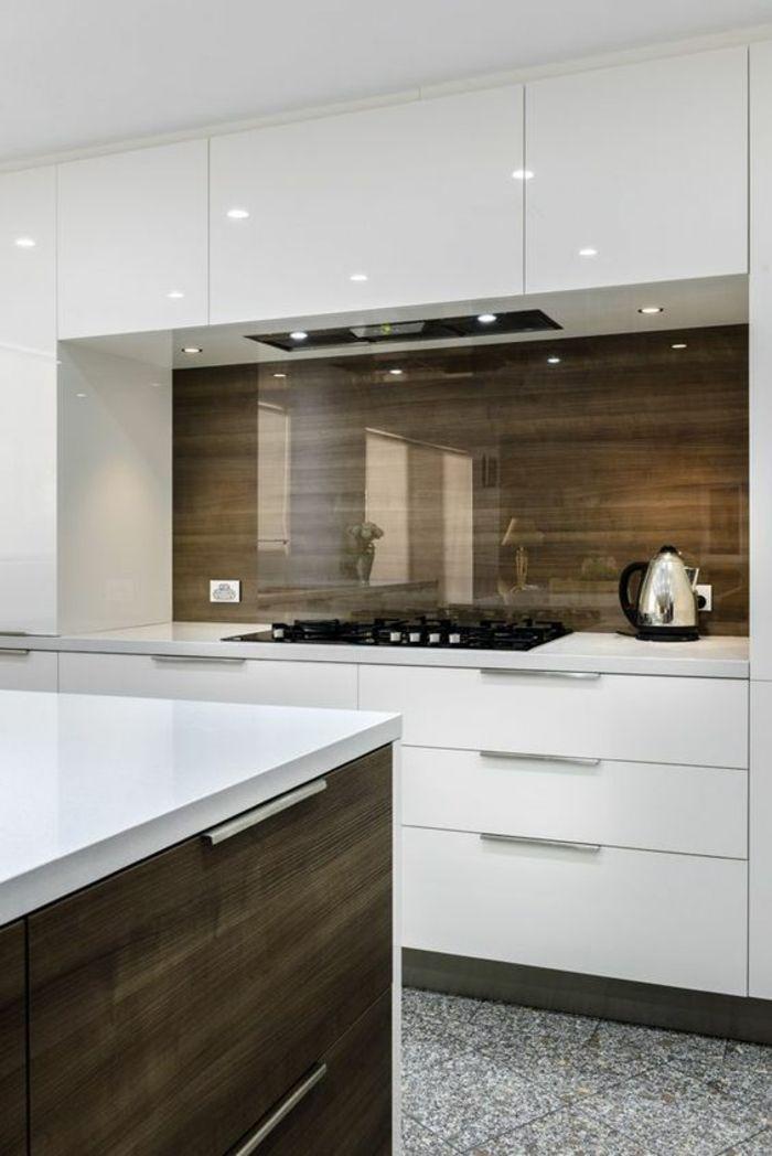 1001 Idees Pour Une Cuisine Laquee Blanche Des Exemples Bien Lumineux Cuisine Design Moderne Cuisine Moderne Idees Dosseret Cuisine