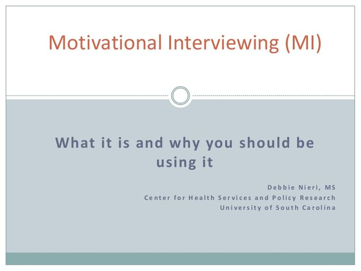 motivational-interviewing-26497056 by ChildrensTrustofSC via Slideshare