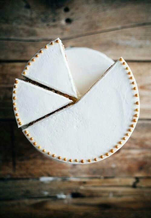 minimalist white cake - yum!
