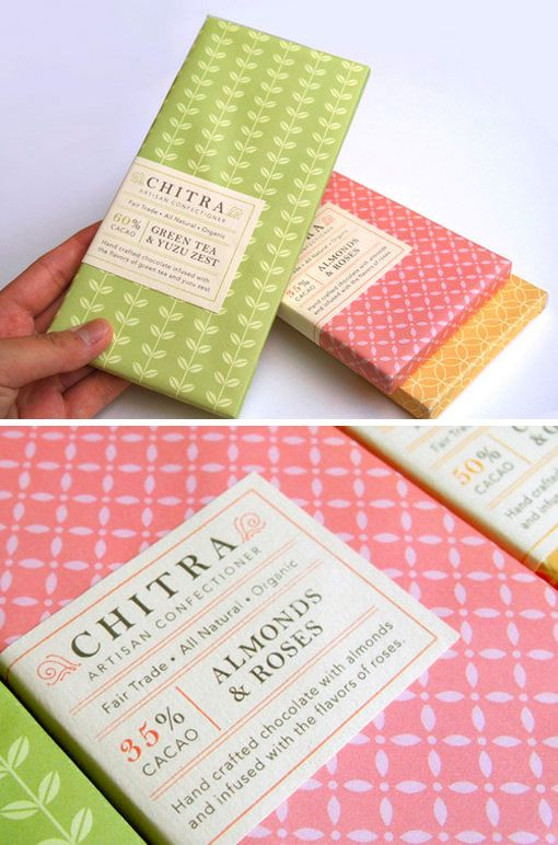 Mai K. Nguyen is a current design student at Cal Poly San Luis Obispo with a whole lot of talent. Identity and packaging design she's created for the fictional chocolatier Chitra.
