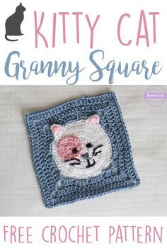 Kitty Cat Granny Square | Free Crochet Pattern from Sewrella
