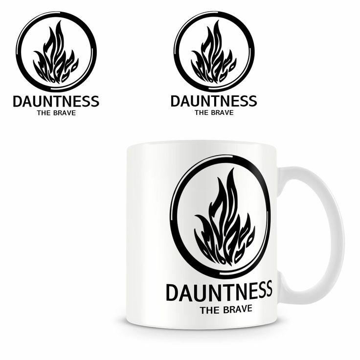 Taza Divergente. Dauntness The Brave (Osadía) Taza con la imagen del logo de la facción de Dauntness (Osadía) una de las facciones a la que pertenece la protagonista de la saga literaria Divergente.