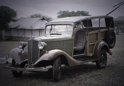 A classic safari vehicle from Tanzania