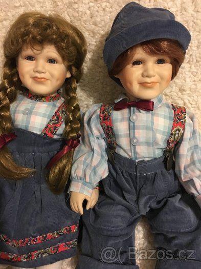 Porcelánové panenky sourozenci - 1