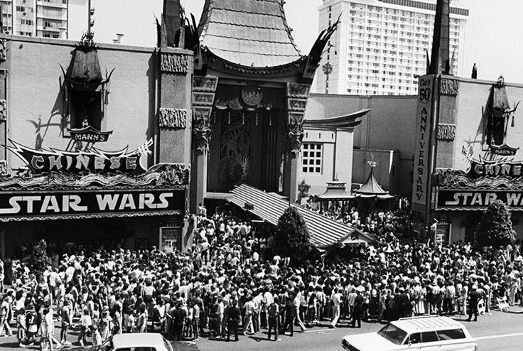 The Beginning of It All: Opening day for the original Star Wars film! (Photo: 1977) #StarWars #GeorgeLucas