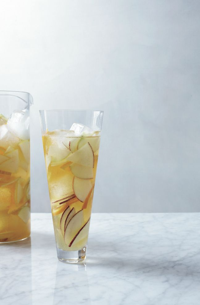 Hard Cider Sangria   Food & Wine  (this recipe (made as a punch) has become a staple for our Thanksgiving and Christmas celebrations)