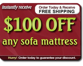 Sofa Bed Mattress Sale $100 Off Any Sleeper Sofa Mattress Replacement