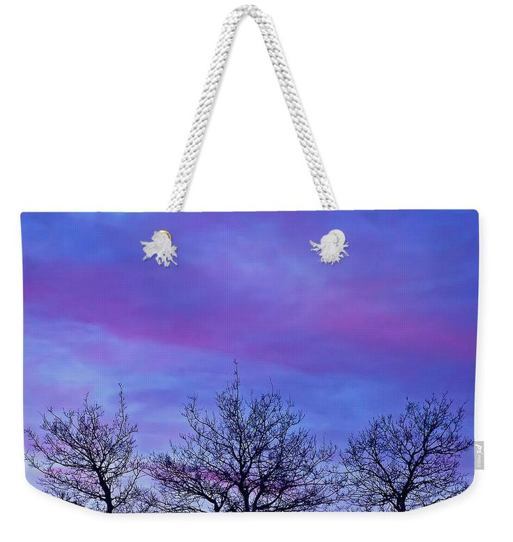 Sunset Weekender Tote Bag featuring the photograph Tree Tops In The Sunset by Sandra Foster