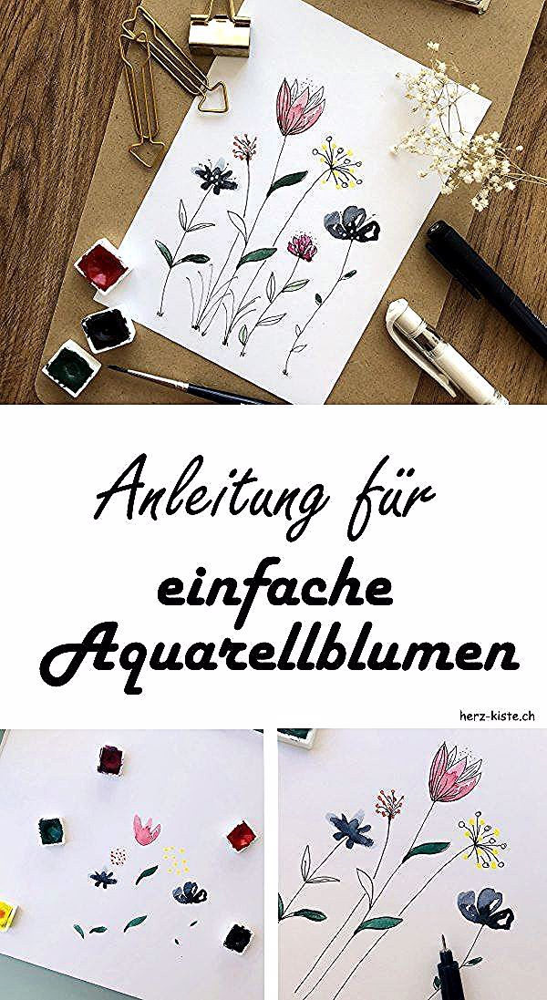 Diy Anleitung Fur Einfache Aquarellblumen So Malst Du Ganz Simple