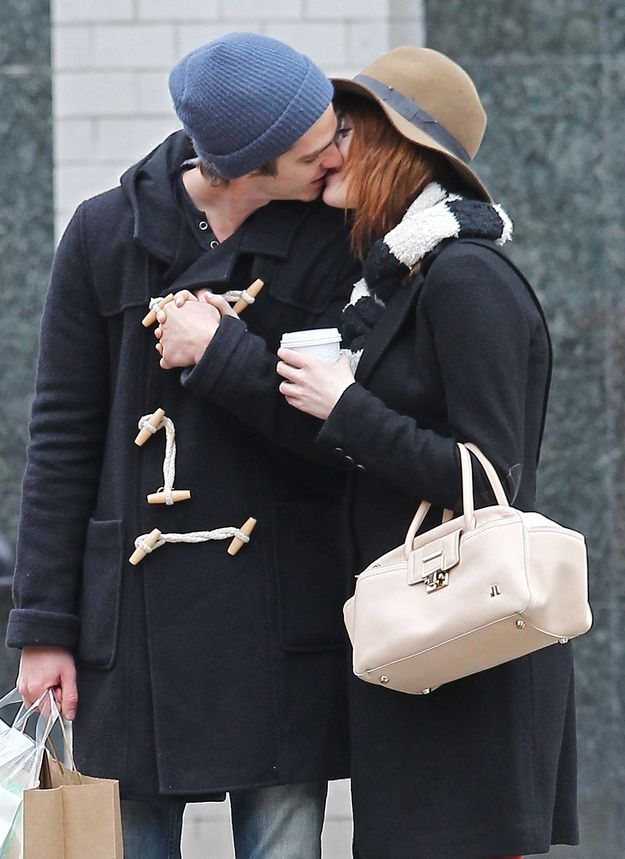 They kissed... | Emma Stone And Andrew Garfield Being Adorable Together