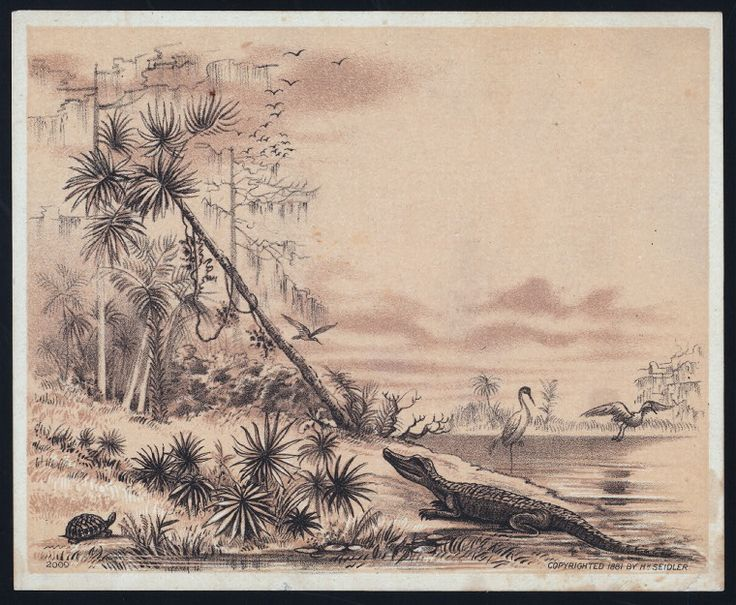 Vintage menu artwork. Sanford House, Florida  One of hundreds of thousands of free digital items from The New York Public Library.
