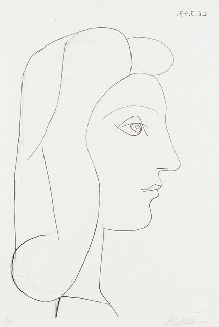 Pablo Picasso, Profil de Femme, 1947