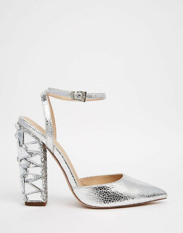 Image 2 ofASOS PLAYGROUND Embellished Pointed High Heels