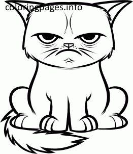 grumpy cat coloring pages - Grumpy Cat Coloring Pages