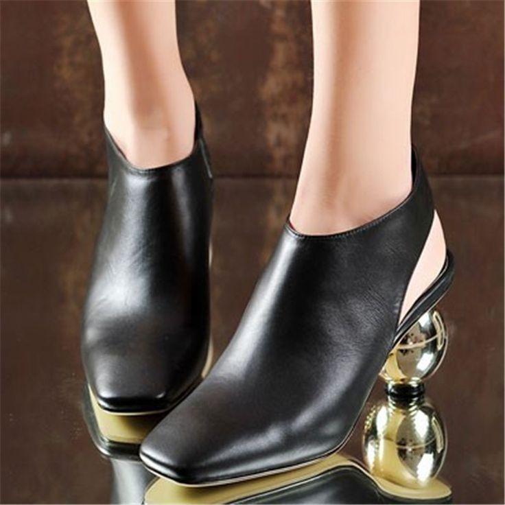 Aliexpress.com: Comprar ENMAYER Tacones Anormales Bombas de Las Mujeres Zapatos de Plataforma de La Moda Bombean los zapatos de Boda Dedo Del Pie Cuadrado Estilo Extraño Zapatos Causales Mujer de zapatos de tacón mujer fiable proveedores en Shop408473 Store