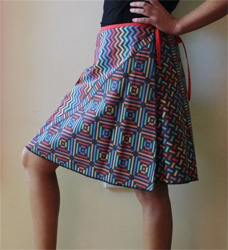 Wrap Skirt (One size fits most Small - Large) Australian Handmade in recycled retro material