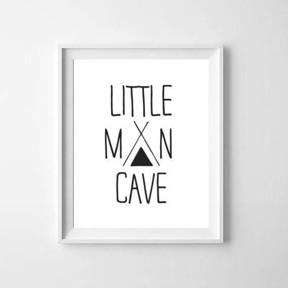 Little Man Cave / Toddler Boy Room Print / Teepee Nursery Print / Boys Cave Poster / Scandinavian Boys Nursery Poster / Little Man Prints