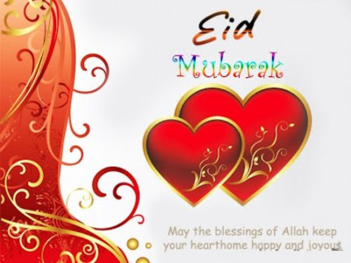 eid mubarak hearts wishes quotes pictures Eid Mubarak Blessing Wishes Quotes in English 2014