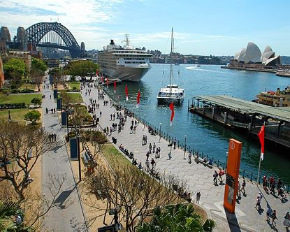 We visited Sydney, Australia in 2000 during the Olympics. One of the highlights of our trip was going to the Circular Quay to see the Opera House and do some outstanding shopping!