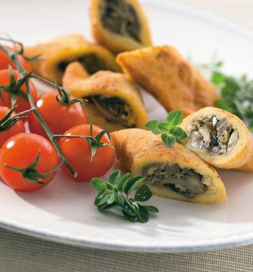Zemiakové pirohy plnené hubami | Recepty.sk