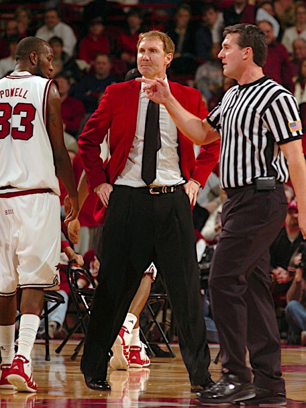 ... --01/05/10-- University of Arkansas coach john Pelphrey reacts to a call in the first half of Tuesday nights game at Bud Walton Arena in Fayetteville.