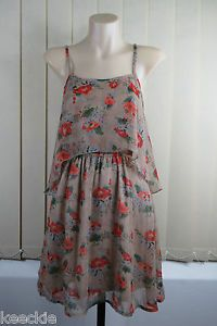 Size S 10 Ladies Floral Dress Retro Vintage Inspired Boho Chic Casual HIP Design | eBay