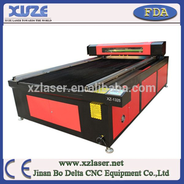 Jinan 1300*2500mm fiber glass cnc laser cutting machine for sale